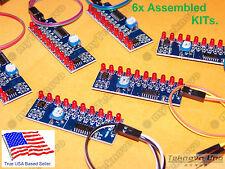 6x LED Light Chaser Follower Sequencer Scroller Assembled KIT NE555 CD4017 USA