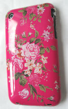 iphone 3g/3gs Hard Case-Cover. PINK ,FLOWERS -clear trim