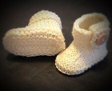 Junior Boots©️Baby Boots KNITTING PATTERN - To Fit Absolute Newborn