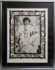 "Ulrike Schlobis 1981 Ltd. Ed. Risque Print ""The New Morning Gown"" Metal Frame"