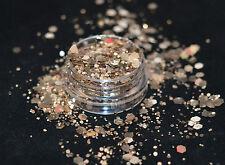 Mezcla de brillo hermoso arte en uñas champán sueños para Acrílico/Gel de aplicación
