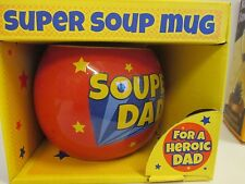 44838 THE SUPER SOUP MUG FOR A SOUPER DAD CERAMIC SOUP MUG