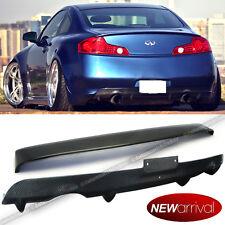 For 03-07 G35 2DR Carbon Fiber Rear Roof Spoiler + Rear Bumper Diffuser Combo