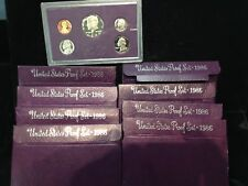 8 Set LOT of 1986-S U.S. Proof Sets ORIGINAL