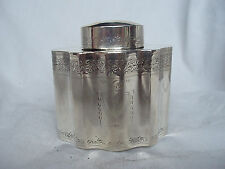 TEA CADDY EDWARDIAN STERLING SILVER LONDON 1908