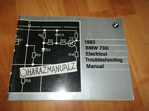 1983 BMW 733i Electrical Troubleshooting Manual