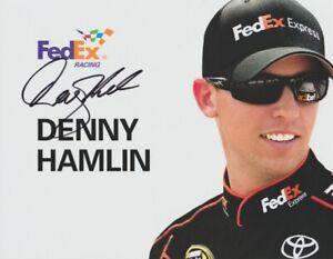 2012 Denny Hamlin signed FedEx Toyota Camry NASCAR Sprint Cup Hero Card