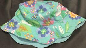 NEW Vintage 2001 GYMBOREE Reversible POP SAFARI Florals HAT 18-24 mo 2T 3T NWT