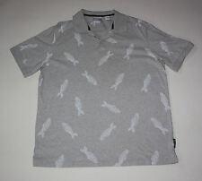 Chaps Men's XL TG EG Golf Shirt Fishing Fish Fossils