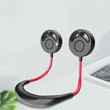 Mini USB Rechargeable Portle Neckband Dual Cooling Fan Lazy Neck Hanging Style