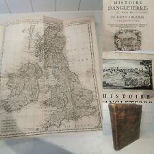 Histoire D'angleterre 1724. De Rapin Thoyras. Vol 4. UK Map.