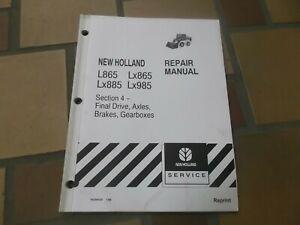 New Holland L865 LX865 Skid Steer Loader Axles Brakes Shop Service Repair Manual