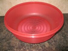 "TUPPERWARE ~ 10"" CrystalWave Microwavable Colander ~ RED (prev owned)"