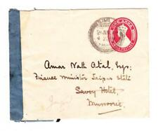 India GeoVI-Postal Envelope-HG:B16a(red)-SIMLA 21/JUN/45-RARE CENSOR TAPE(Simla)