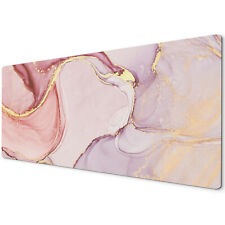 60 X 30cm Extra Large Xl Desk Mouse Pad Mat Gaming Marble Effect Pink Gold