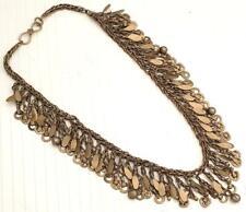 Afghan Kuchi Old Boho Handmade CHAIN Tassel Banjara Tribal Gypsy Necklace