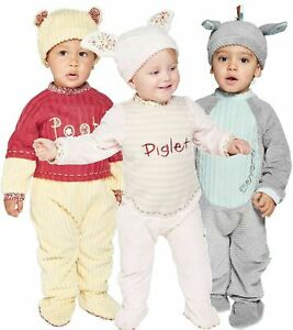 DISNEY WINNIE THE POOH, PIGLET AND EEYORE BABY FANCY DRESS ALL IN ONE  3-24 MTHS