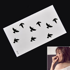 Removable Swallow Temporary Tattoo Large Arm Body Art Tattoos Stick Waterproof #