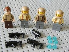 Lego Star Wars - 4 Resistance Troopers with stud shooters - New!