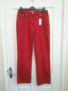 Darmart Red Skinny Jeans size 12 Leg 28 inches BNWT
