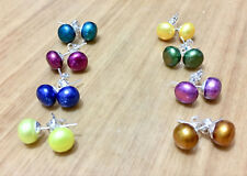 8Set 8Color Akoya Cultured Pearl 8-9MM Earring AAA Grade