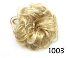 Women Hair Extension Hairpiece Ribbon Ponytail Clip In Hair Bun Curly Scrunchie