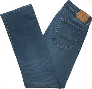 34x34 American Eagle Outfitters EXTREME FLEX Original Boot Blue Jeans Mens Denim