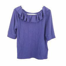 Polo Ralph Lauren 3/4 Sleeve Ruffle Top Shirt Blue Size 6 Girls