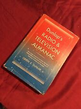 DUNLAP'S RADIO & TELVISION ALMANAC BY ORRIN E.DUNLAP 1951SIGNED FIRST EDITION
