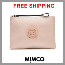 MIMCO SUPERNATURAL PANCAKE ROSE GOLD MEDIUM POUCH COW LEATHER RRP99.9 DF