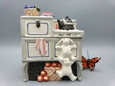 Fitz and Floyd Stove Cookie Jar - Canaster 1993 Hand-painted