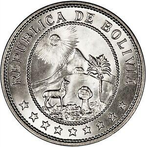 Bolivia 1939 50 Centavos GEM BU