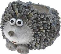 Large Hedgehog Plant Pot Planter Garden Ornament Heavyweight Resin Flower Pot