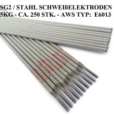 5KG ca.250 Stk. SG2 STAHL SCHWEIßELEKTRODEN 2,5mm E6013 RR6 RR12 STABELEKTRODEN