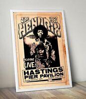 Jimi Hendrix live at Hastings 1967 Poster/Artwork/Print.