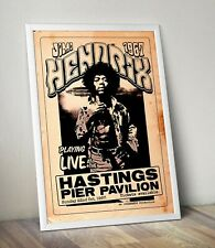 More details for jimi hendrix live at hastings 1967 poster/artwork/print.