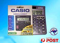 Casio Calculator MJ-100D New Desk Calculator Large Display dual power 10 digit