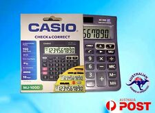 Casio Calculator MJ-100D New Desk Calculator Large Display dual power 10 digit