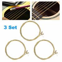 3 Set of 6 Guitar Strings Replacement Classic Guitar Strings for Acoustic Guitar