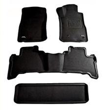 To suit Toyota Landcruiser Prado 120 series 2002 to 2009 BLACK Rubber 3D Mats
