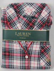 Ralph Lauren Plaid Shawl Collar Pajama Set PJ's Gold Crest NWT