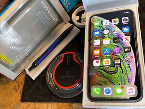 Apple iPhone Xs MAX (256gb) Verizon World-Unlocked (A1921) AppleCare+ iOS13:100%