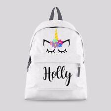 Personalised Kids Backpack - Any Name Unicorn Girls Back To School Bag #CBPFU
