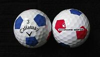 "10 CALLAWAY  ""CHROME SOFT"" - + ""RED and BLUE TRUVIS"" -Golf Balls- ""MINT/PEARL"""