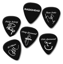 RADIOHEAD Thom Philip Jonny colin Ed signature print plectrum guitar pick picks