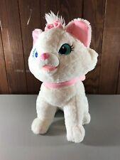 Aristocats plush animal, white plush cat, white cat pink ears, Disney cat, Marie