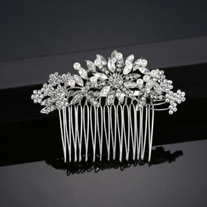 Crystal Rhinestone Pearl Wedding Hair Comb Bridal Hair Accessories