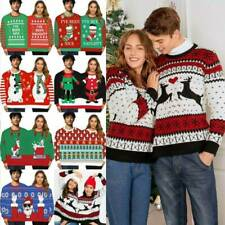 Ugly Christmas Sweater Jumper Couples Women Men Xmas Sweatshirt Pullover Tops