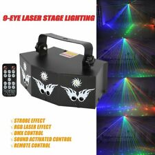 9-eye Laser Projector Light Strobe Dmx512 Disco Led Show Stage Lighting Remote