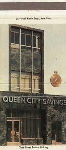 Plainfield New Jersey Queen City Savings Entrance Vintage Postcard 30 strike